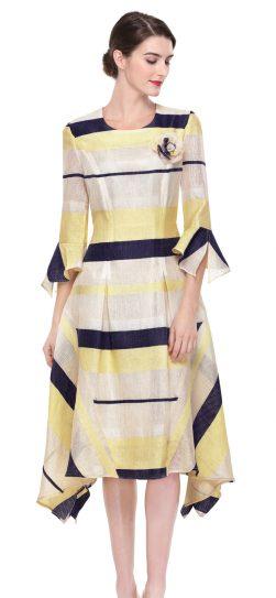 serafina,6167, yellow multi dress