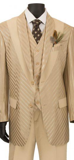 vinci,mens shadow stripe suit, almond shadow stripe suit, 23RS-9