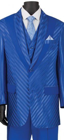 vinci,mens shadow stripe suit, 23rs-9,royal blue mens suit