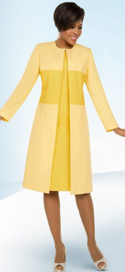 benmarc executive, 11797, yellow jacket dress