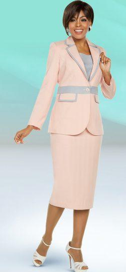 benmarc executive, 11798, pink-grey skirt suit