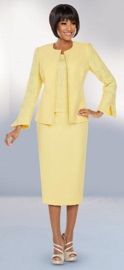 benmarc executive, 11799, skirt suit, banana church suit, yellow church suit