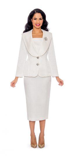 Giovanna, white church suit g1094