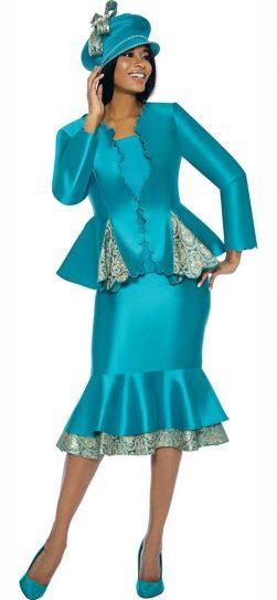 susanna, 3906, teal skirt suit