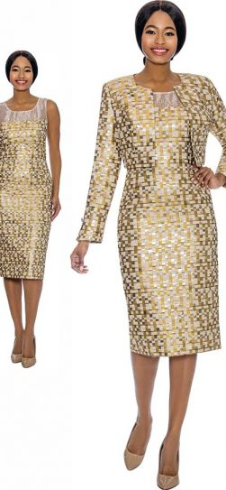 susanna, 3909, gold jacket dress