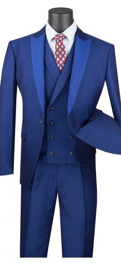 vinci, sv2r-6 blue mens suit
