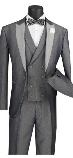 vinci,sv2r-6, silver mens suit