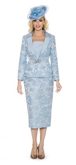 giovanna, g1096, light blue skirt suit
