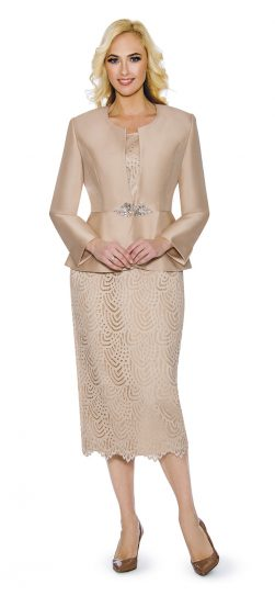 giovanna, g1098, champagne skirt suit