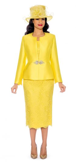 giovanna, g1098, yellow church suit