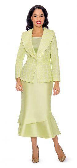 Giovanna, G1099, lime skirt suit