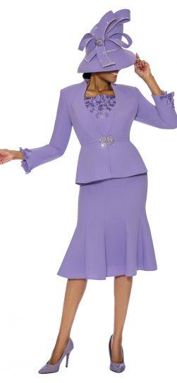 Susanna, lavender skirt suit, 3890