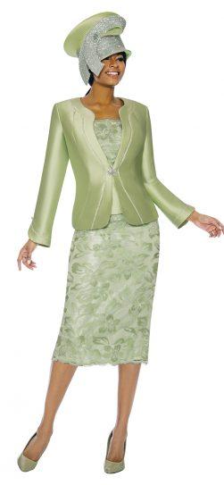 Susanna, 3892, green church suit