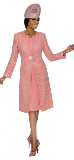 Susanna, peach skirt suit, 3895