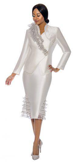 Susanna, skirt suit, white church suit, 3900