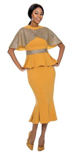 susanna, 3903, gold skirt suit