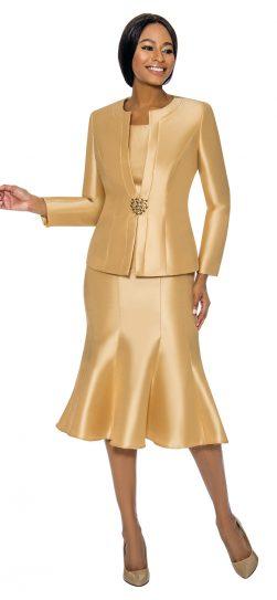 terramina, gold skirt suit, 7689