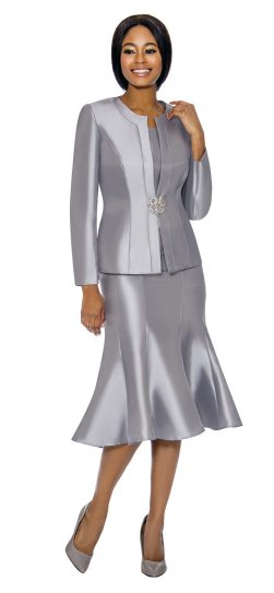 terramina, silver skirt suit, 7689