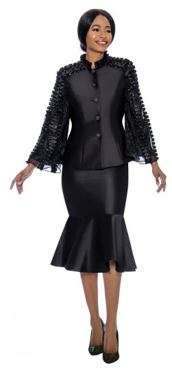terramina, black skirt suit, 7712