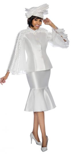 terramina, white skirt suit, 7712
