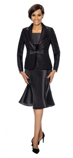 terramina, black skirt suit, 7734