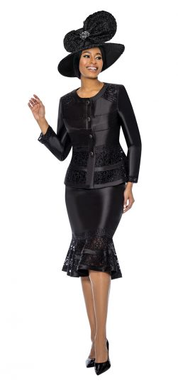 terramina, black skirt suit, 7736