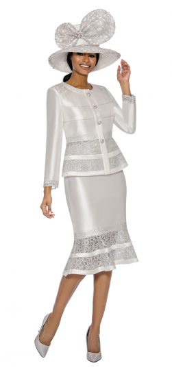 terramina, white skirt suit, 7736