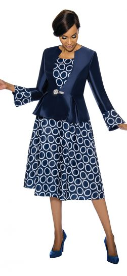 terramina, 7740, navy skirt suit