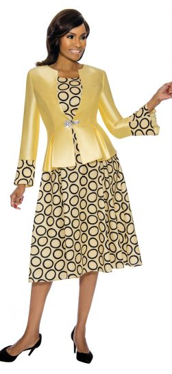 terramina, yellow skirt suit, 7740