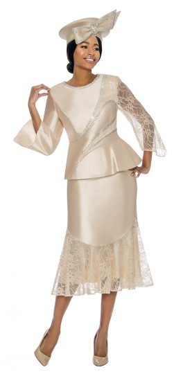 terramina, 7743, champagne skirt suit