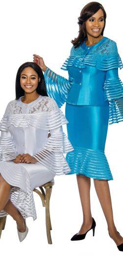 terramina, 7752, blue skirt suit