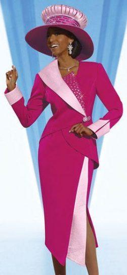 donnavinci,11264, fuchsia skirt suit