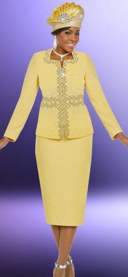 benmarc, knit skirt suit. banana knit skirt suit, 48203