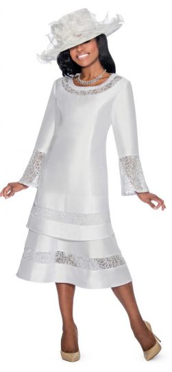 Giovanna,d1343, pure white, white church dress