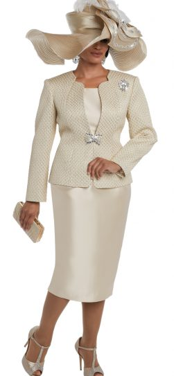 donna vinci skirt suit, champagne skirt suit, sizes 10 to 24, 5597