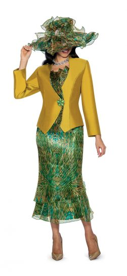 Giovanna, g1051, gold skirt suit