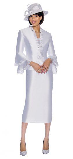 gmi,skirt suit, g6923, white skirt suit, white church suit