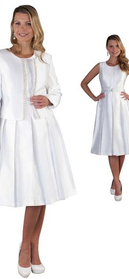 chancele, 9520, white dress and jacket