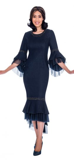 devine sport, ds62171, navy denim dress
