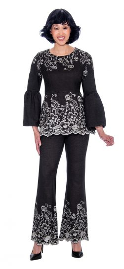 devine sport, black denim pant suit, ds62192