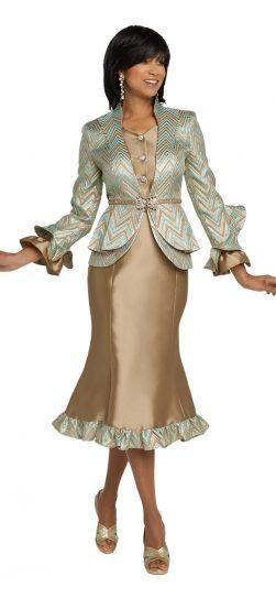 Donnavinci. 5640, champagne church suit