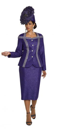 donnavinci, 5647, purple church suit