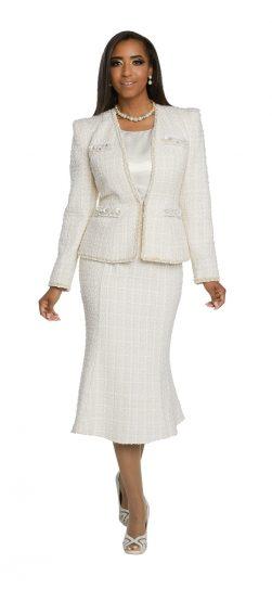 donnavinci, 5653, white church suit, dressy white skirt suit
