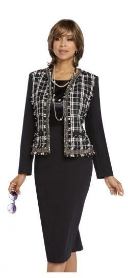 donnavinci, 5659, 3 piece skirt suit