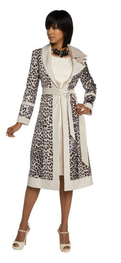 Donnavinci, 5661, animal print dress and jacket