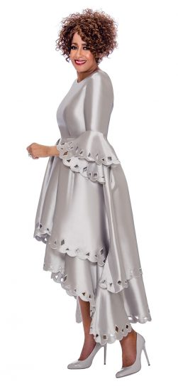 dorinda clark cole, dcc1431, silver dress, long silver dress
