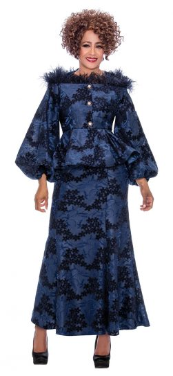 dorinda clark cole, dcc2192, navy dress, long navy dress