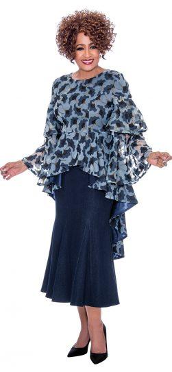 dorinda clark cole, dcc2202, navy dress