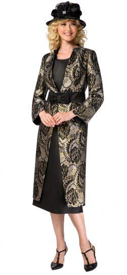 giovanna, g1102, black-gold skirt suit