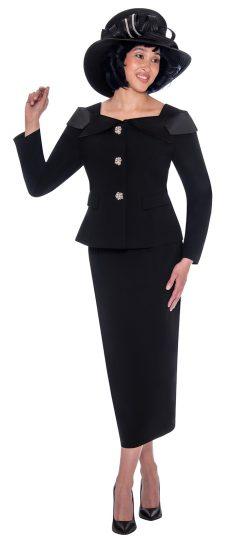 GMI-g7622, black skirt suit